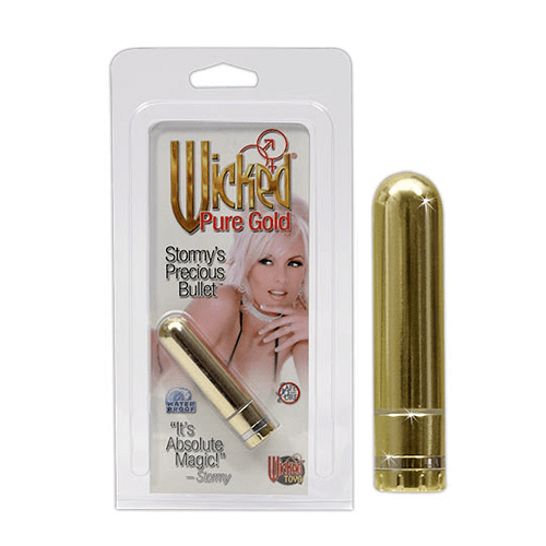 Pure Gold Læbestift Massagestav - Hård vibrator