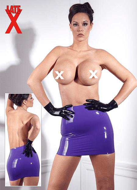 Sexy Latex Mini Nederdel