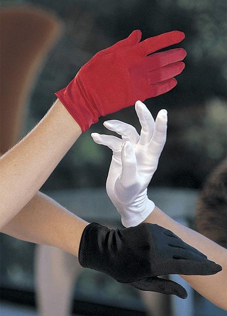 Kort Satin Handske