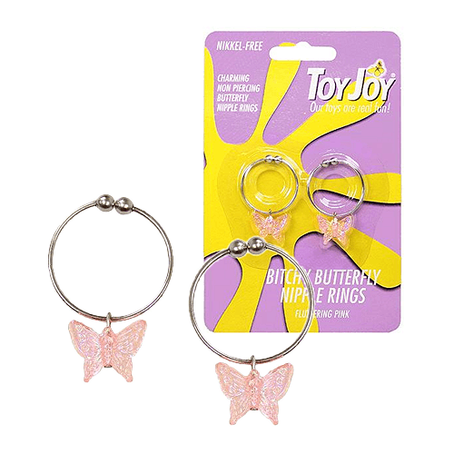 Bitchy Butterfly Nipple Rings