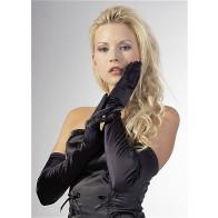 Lang Stretchsatin Handske