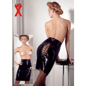 Knælang Latex Nederdel