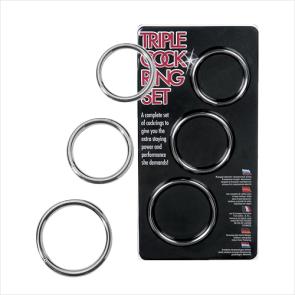 Metal Triple Cockring Kit